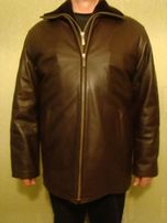 продам мужскую кожаную теплую куртку
