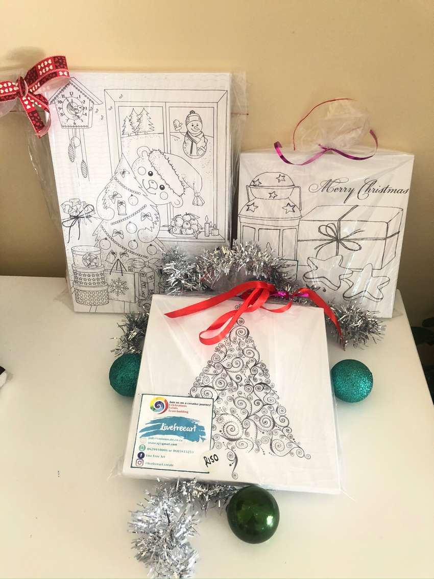 Christmas designs on boxed canvas. Sold individually or as art packs 0