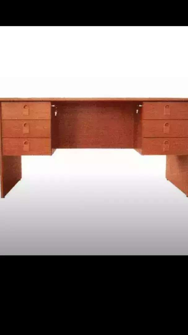 Your 5ft office table with two power lock drawers 0