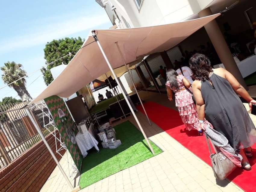 Stretch tent for hire 5m x 10m 0