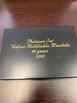 NELSON ROLIHLAHLA MANDELA 90 YEARS COMMEMORATIVE MEDALLION SET – 2008