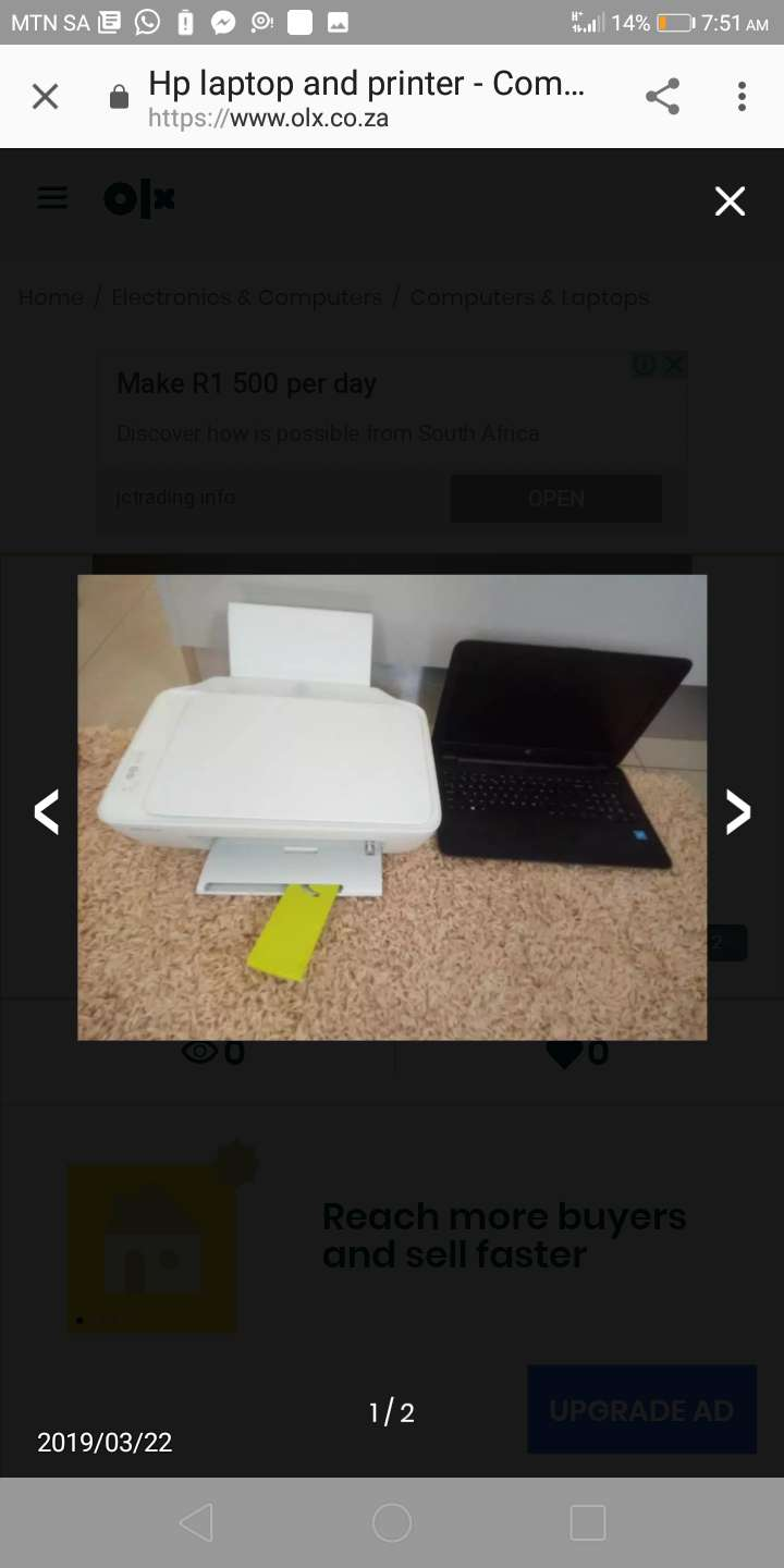 Hp laptop and printer 0