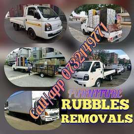 FURNITURE AND RUBBLES REMOVALS