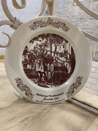 коллекционная  тарелка der bier crager 1990 года