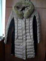 Продам зимнее женское пальто (холлофайбер)+сумка+рукавички+шапка