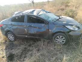 Hyundai accent involved in accident