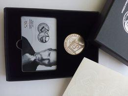 Монета iCoin Стив Джобс Apple Серебро