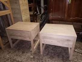 Modern design side bed tables real wood & steel or your own design res