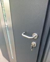 WYPRZEDAŻ!! Drzwi stalowe zewnętrzne antracyt/grafit ciepłe 67mm NOWE