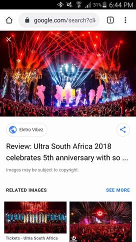VIP ultra tickets Cape Town
