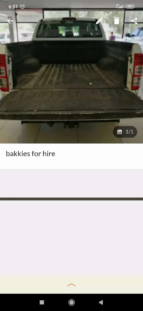 Bakkies for hire and removals 0