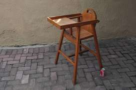 Vintage Origen Pine Kids / Baby High Chair With Tray