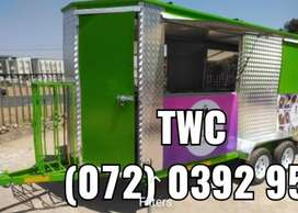TRACKER included on a 5m FOOD TRAILER MOBILE KITCHEN CARAVAN