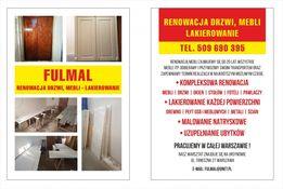 Renowacja zmiana koloru drzwi mebli frontów kuchennych