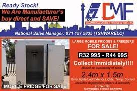 Mobile Freezer/Fridge and Cold rooms for sale