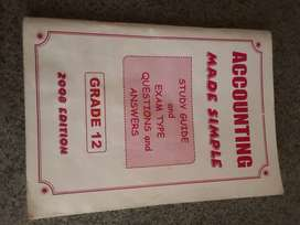 Accounting Grade 12 book for sale