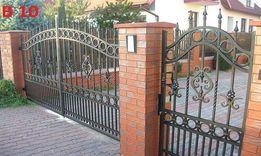 Brama dwuskrzydłowa wjazdowa kuta bramy wjazdowe kute przesuwna