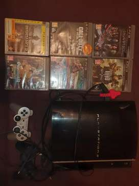 Ps3 with Fan & 6 Games