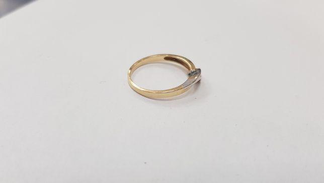 Piękny złoty pierścionek/ 585/ 2,19 gram/ R16/ sklep Gdynia/ Gdynia - image 5