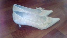 Туфли нарядные свадебные белые