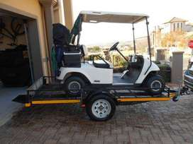 EZGO Freedom Golf Cart c/w Trailer