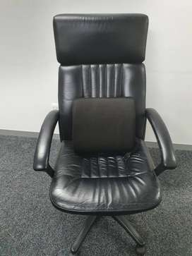 High back leather chair for sale