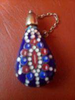 серебрянный флакон для духов эмали