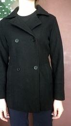 Marynarka żakiet płaszczyk czarny flausz s 36
