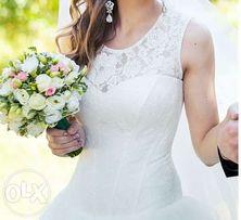 свадебное платье с заниженной талией айвори