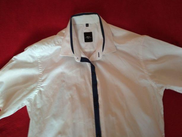 Koszula męska biała rozmar 39 Parczew - image 1