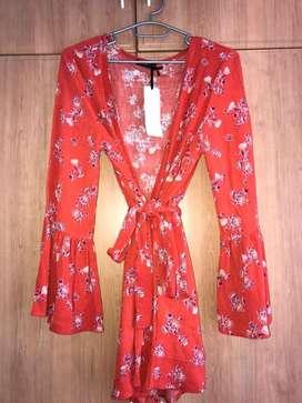 Brand New Floral bell sleeve jumpsuit