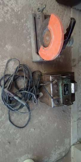 Arc welding machine and angle grinder