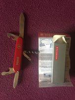 Складной ножик Victorinox Швейцария оригинал ,2зажима для галстука 300
