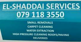 Carpet cleaning, roof cleaning and pavement cleaning.