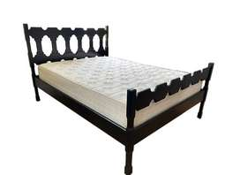 Dark Wood Framed Double Bed for Sale!