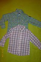 Koszule w kratkę 3-4 lata (2 szt)