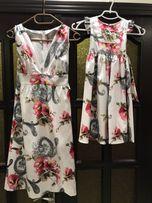 Платье для мамы и дочки , платья для двоих.