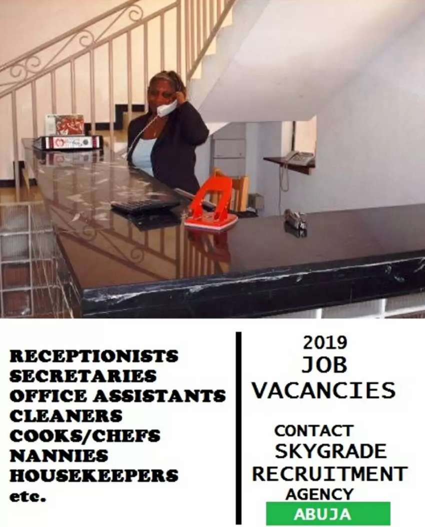 Office Cleaners and Secretary needed in Abuja 0