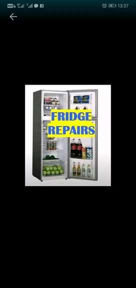 We do fix fridge and regas door to door service sameday job