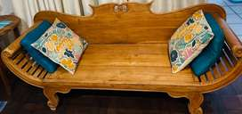 Hand crafted antique couch