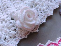 Róża 3D - piękna - na szydełku - RĘKODZIEŁO