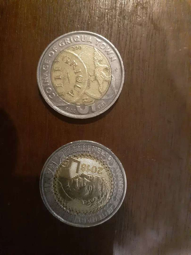 R5 Nelson Mandela Centenary 2018 and R5 Coinage of Griqua Town 0