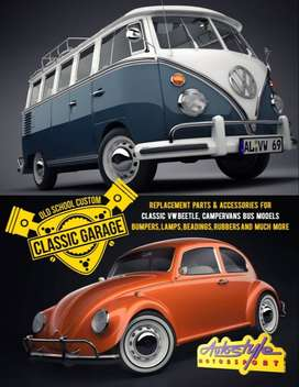 Replacement parts & accessories for classic VW Beetle, campervan bus