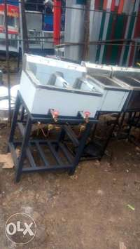 Deep fryer double basket gas oparated 0