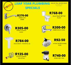 PLUMBING LEAP YEAR SPECIALS