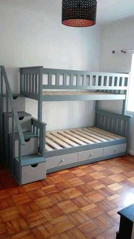 Triple bunk with staircases