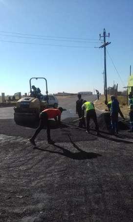 We are experts in tar surfacing and brick paving. We hv all equipments
