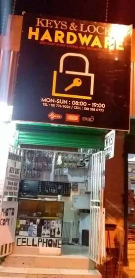 HARDWARE AND LOCKSMITH FOR SALE