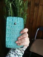 Бали. Чехол для Iphone/Samsung. Кожа крокодила с бриллиантами и серебр