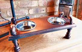 Pipe Pet food bowl stand